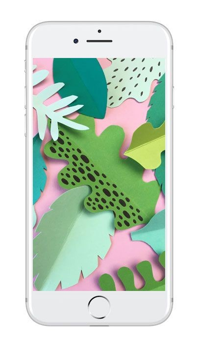 Mobilbakgrund med pappersblad