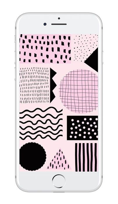 Mobilbakgrund med rosa grafiskt mönster