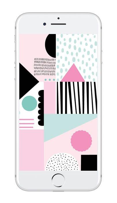 Mobilbakgrund med abstrakt mönster