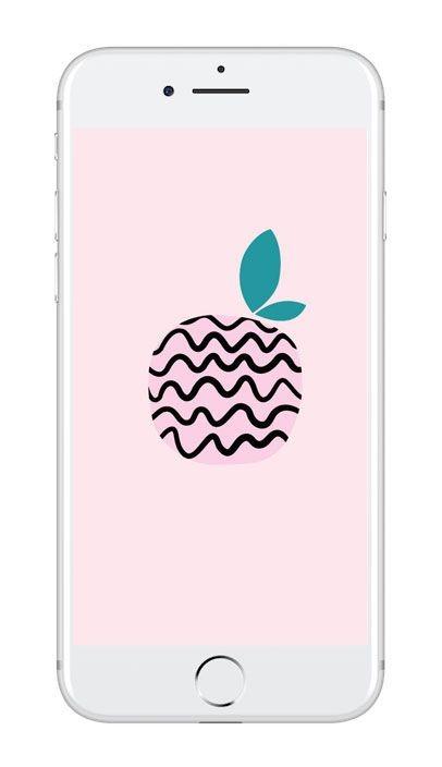 Mobilbakgrund med grafiskt Äpple
