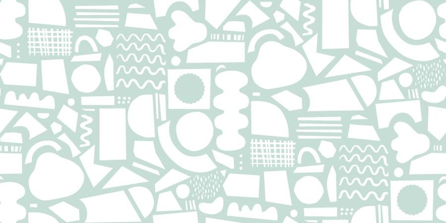 Turkost pappersklipp mönster