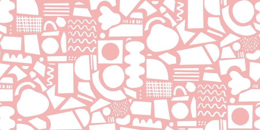 Rosa pappersklipp mönster