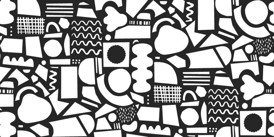 Svartvitt pappersklipp mönster