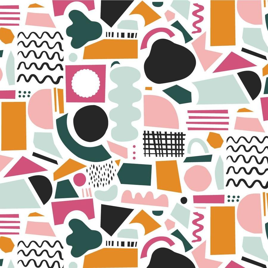 Färgglatt pappersklipp mönster
