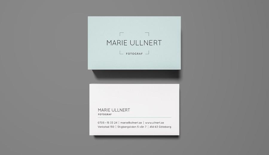 Logotyp och visitkort till en fotograf