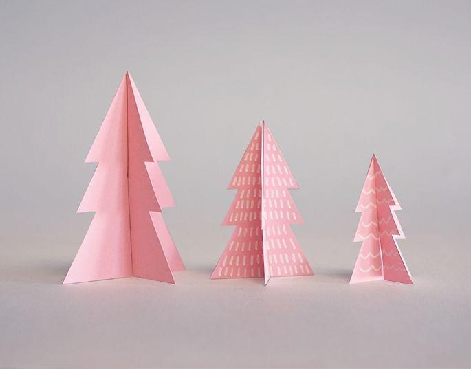 Pyssel med pappersgranar till jul.