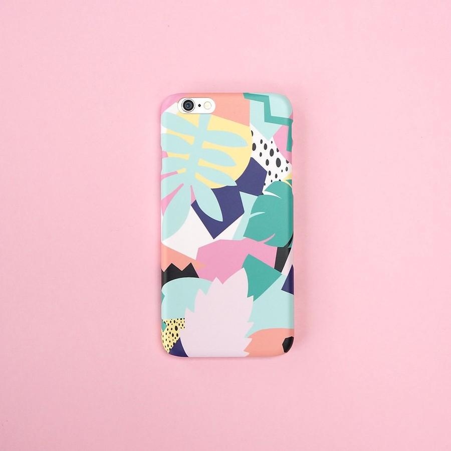 Färgglatt djungelmönster mobilskal