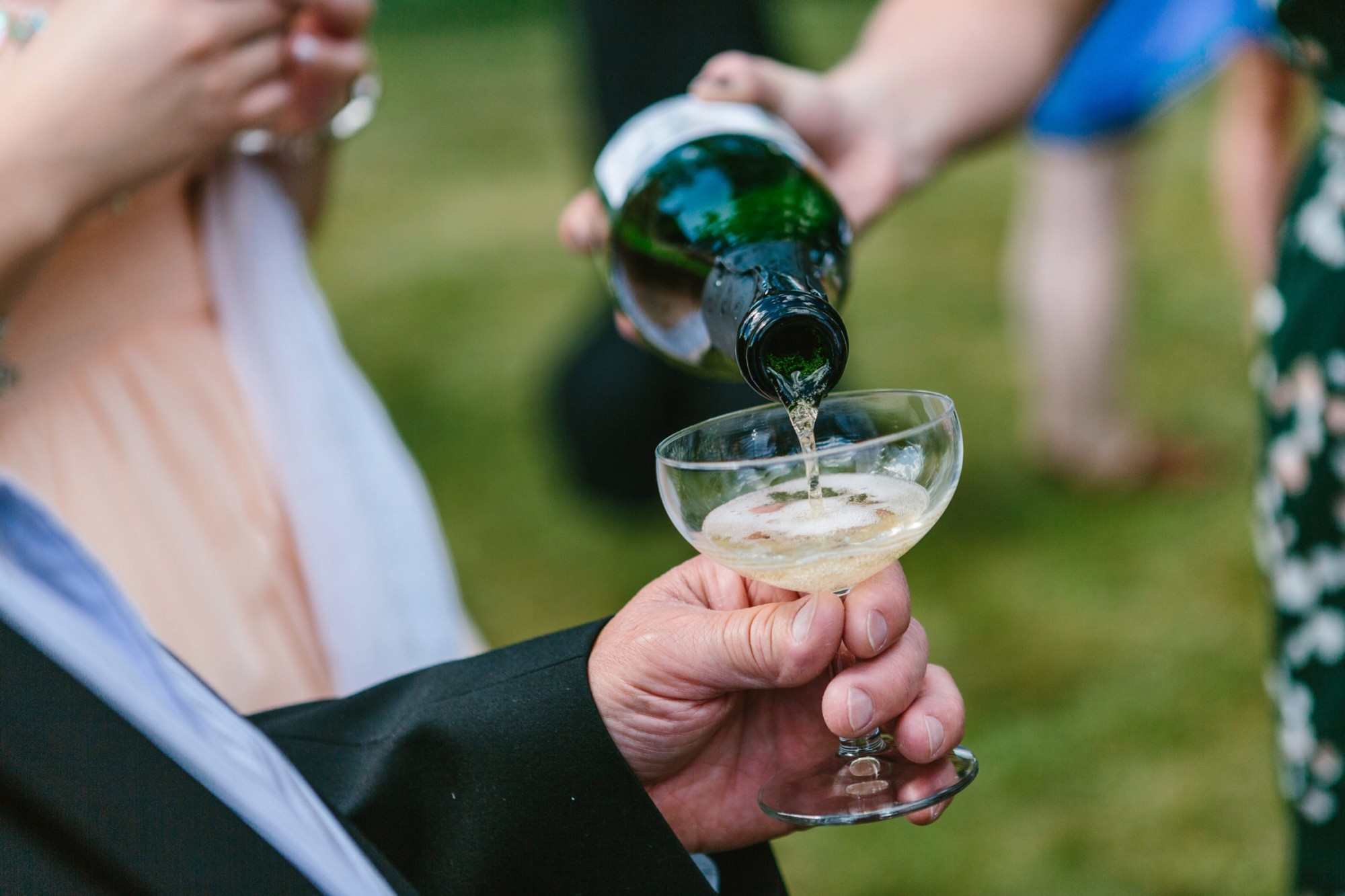 Champagneglas Foto: Oskar Allerby