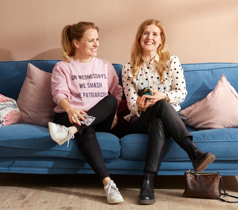 Johanna Lundberg och Hanna Löfqvist, grundare och 100% ägare av Yodabee Mensskydd kontor