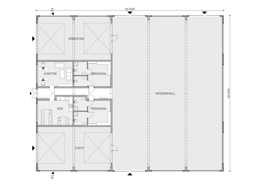 Maskinhall - Göteborgs Galopp - Plan 01