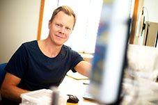 Mattias Gellert Konsult på Carpo Novum som hyr ljusa kontor och renrum på Halmstads trevligatse Kontorshotell Koja. Halland