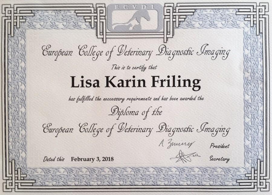 DipECVDI Lisa Friling