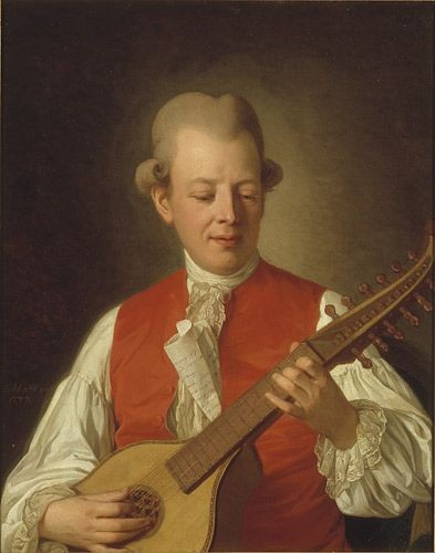 Carl Michael Bellman, porträtterad av Per Krafft 1779.