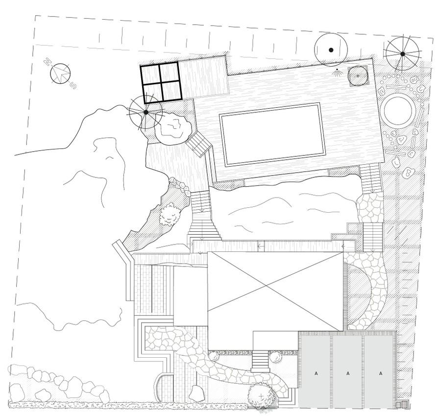 Trädgårdsritning av trädgårdsarkitekt Mimmi Wägerth Trädgårdsdesign. ny trädgård. stengång träaltan trall planritning