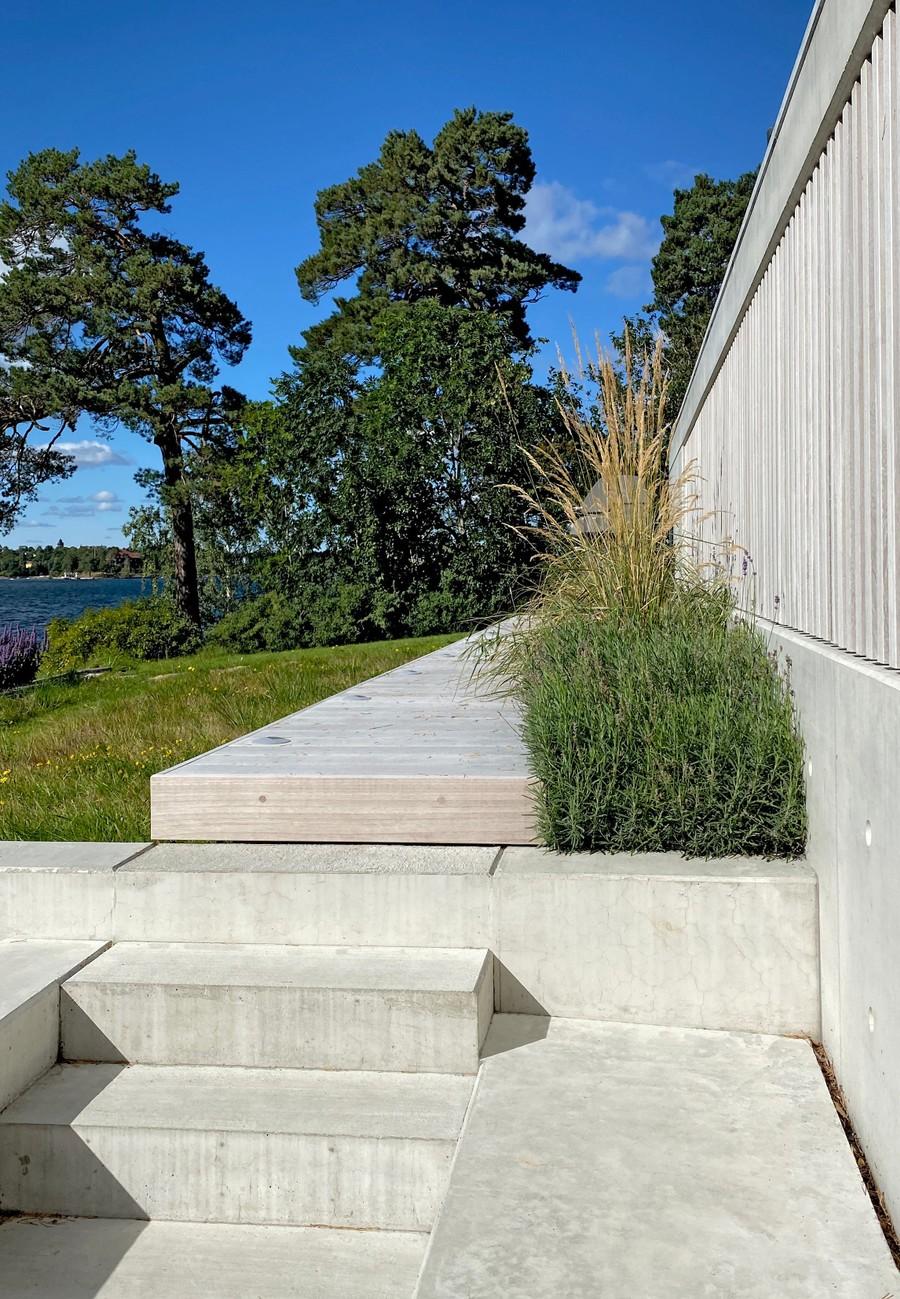 Wägerths trädgårdsdesign trädgårdsarkitekt design trädgård modernt hus lavendel