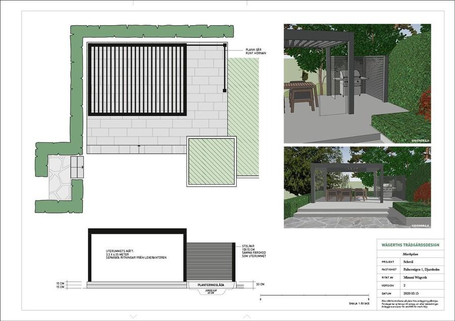Wägerth trädgårdsdesign trädgårdsarkitekt markplan trädgårdsritning anläggning trädgård anläggningsplan trädgård