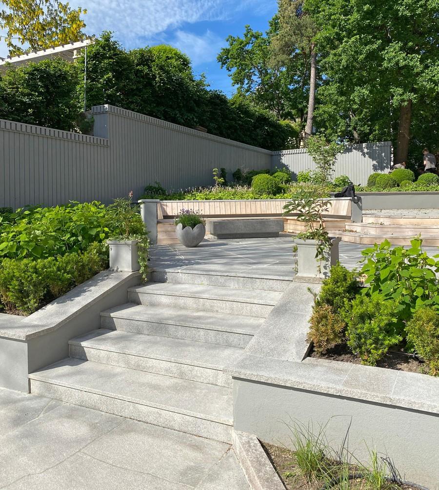 Wägerths Trädgårdsdesign trädgårdsarkitekt trädgårdsritning trädgårdsvy trädgårdsidé ny trädgård altan uteplats bohusgranit mur trappa