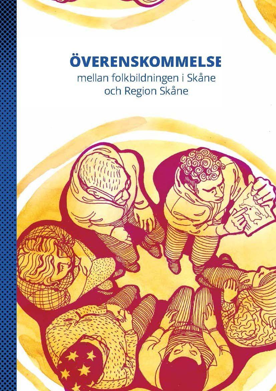Framsida på Överenskommelsen, illustrerad av Maja Lindén, människor i en cirkel