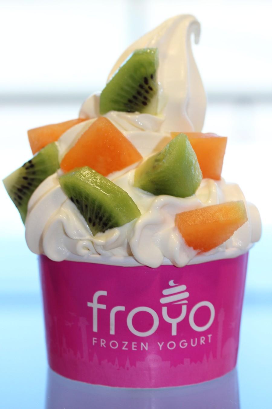 Krämig frozen yogurt med vanilj