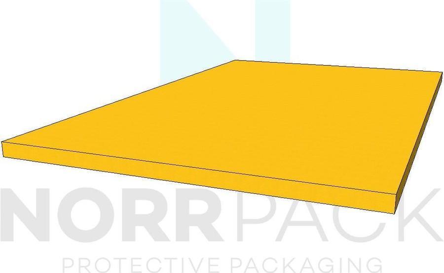 Plastozote gul 25-50mm