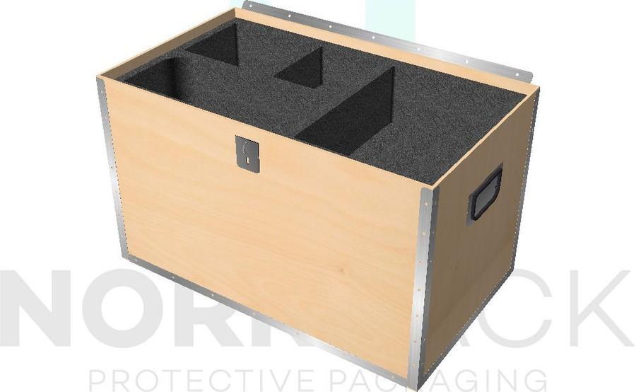 Vi erbjuder skuminredningar för plastbackar, plastlådor, plywoodboxar och plastväskor.