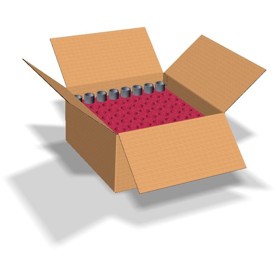 Skuminredning i kartong med antistatiskt material. Stratocell AS