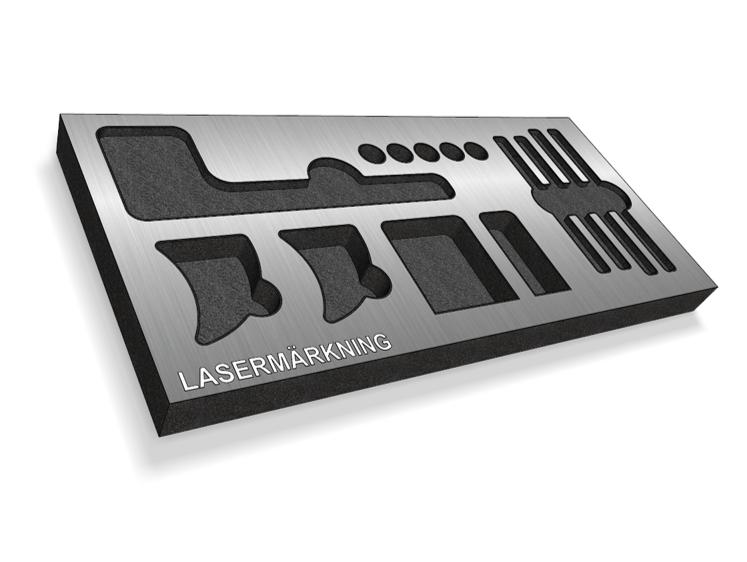 Lasermärkning, öasergravyr på paneler som lätt kan monteras i olika typer av lådor, väskor från HPRC eller WAG