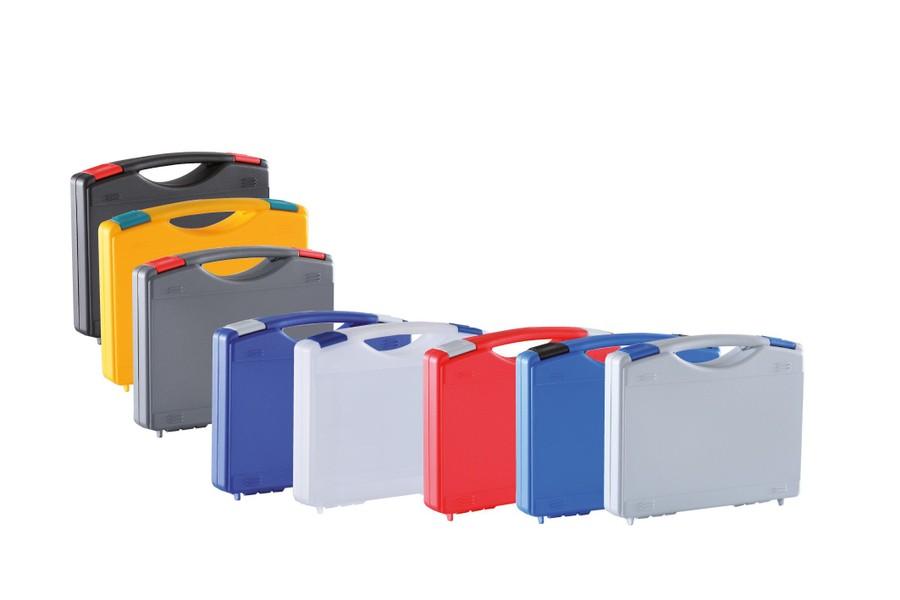 Färgade plastväskor