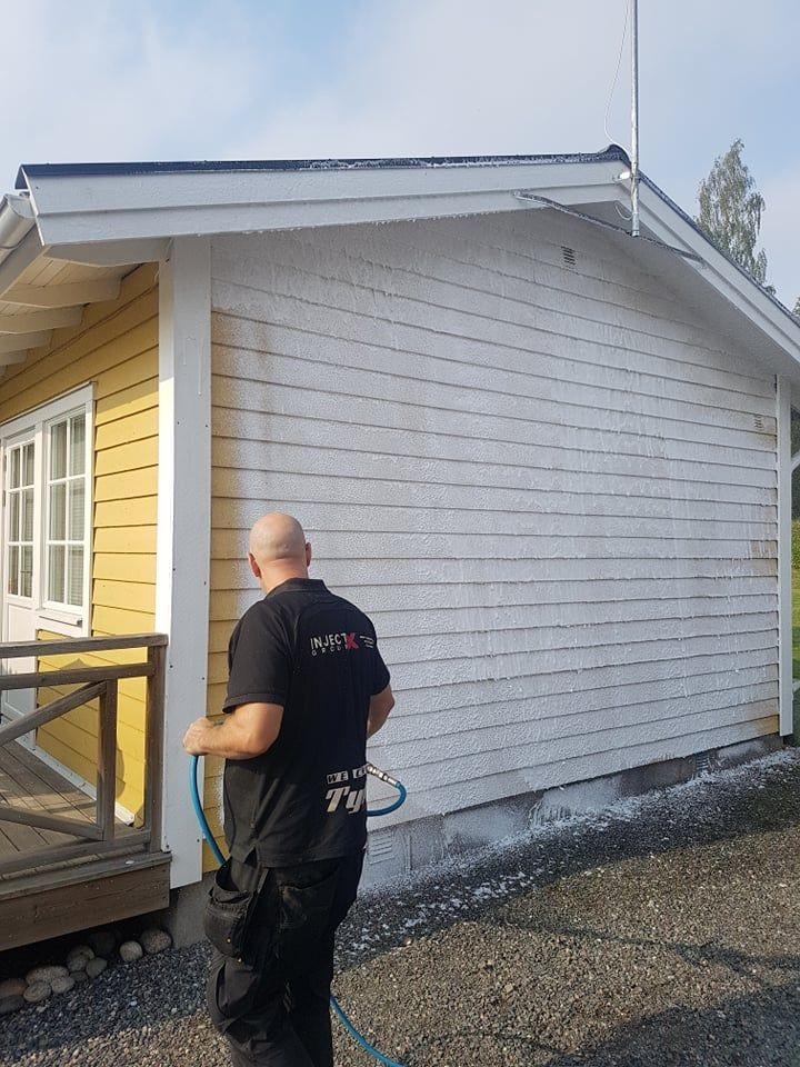 Pris fasadtvätt villa Stockholm, västerås, Dalarna