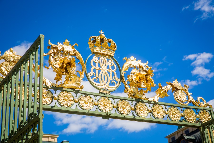Entrén till slottsparken