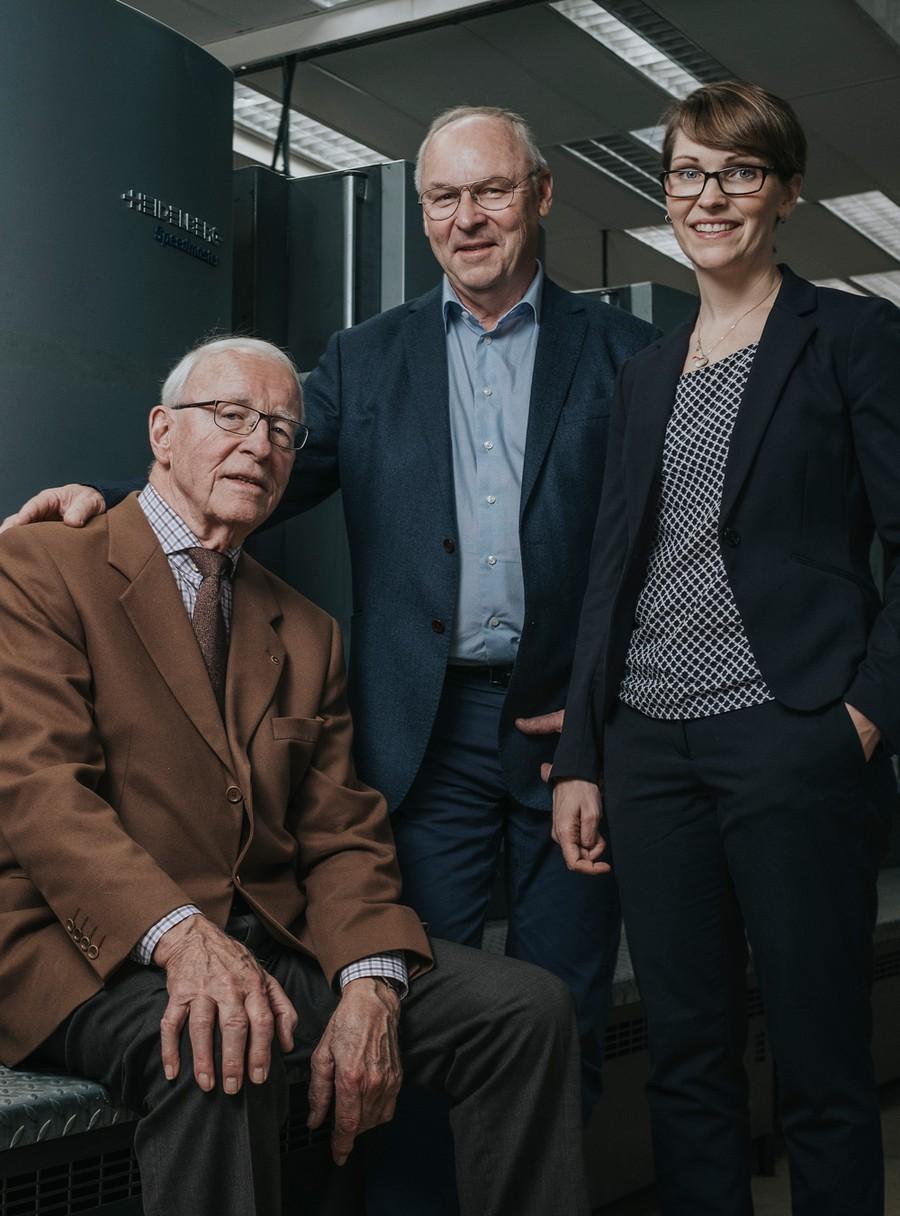 Gunnar Ljungberg, Bengt Ljungberg (vice VD) och Sofia Ljungberg Igbe (VD)