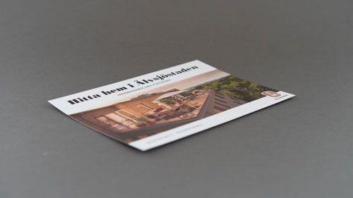 Framsidan på ett vykort