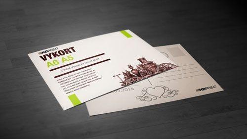 Fram- och baksida på ett vykort