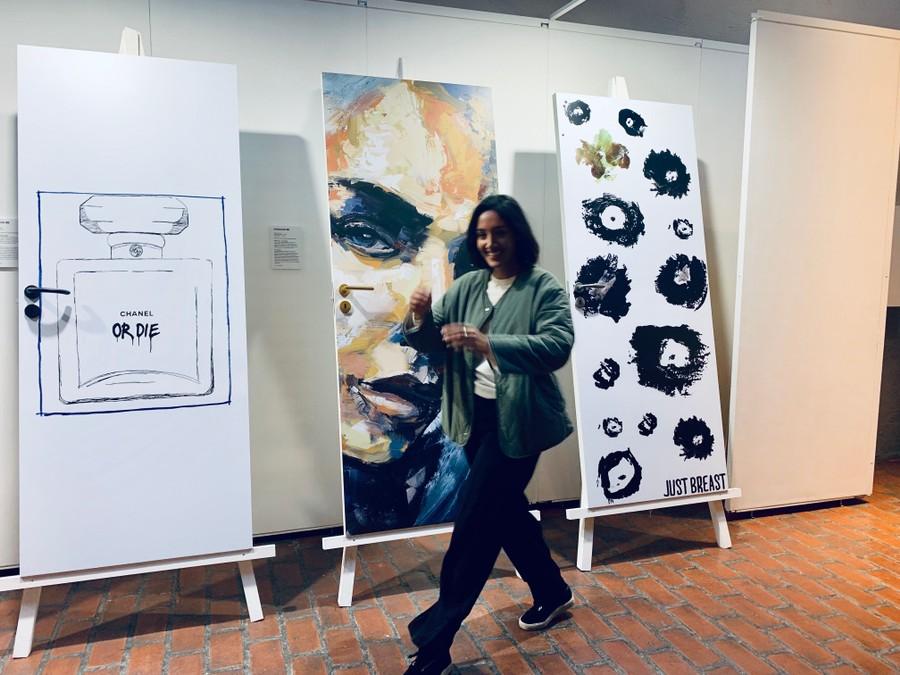 Affordable Art Fair Just Breast Open Doors Open Minds Romina Moradi